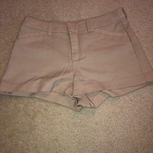 H&M women's khaki shorts size 2